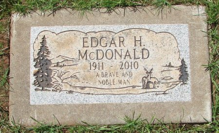 MCDONALD, EDGAR HAROLD - Marion County, Oregon | EDGAR HAROLD MCDONALD - Oregon Gravestone Photos