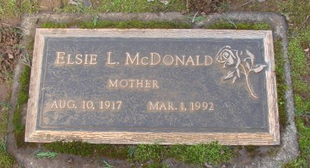 MCDONALD, ELSIE LEONA - Marion County, Oregon | ELSIE LEONA MCDONALD - Oregon Gravestone Photos