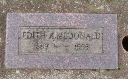 MCDONALD, EDITH R - Marion County, Oregon | EDITH R MCDONALD - Oregon Gravestone Photos