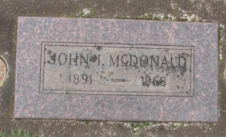MCDONALD, JOHN I - Marion County, Oregon | JOHN I MCDONALD - Oregon Gravestone Photos