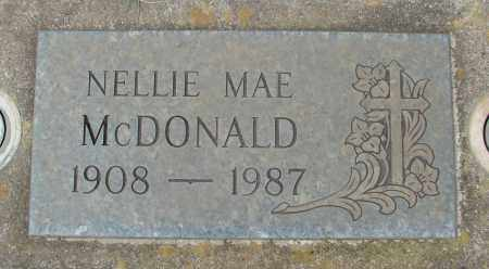 MCDONALD, NELLIE MAE - Marion County, Oregon | NELLIE MAE MCDONALD - Oregon Gravestone Photos