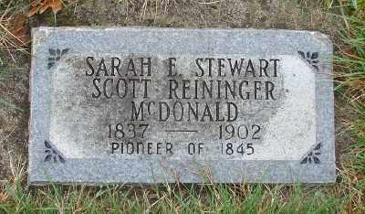 STEWART MCDONALD, SARAH ELIZABETH - Marion County, Oregon | SARAH ELIZABETH STEWART MCDONALD - Oregon Gravestone Photos
