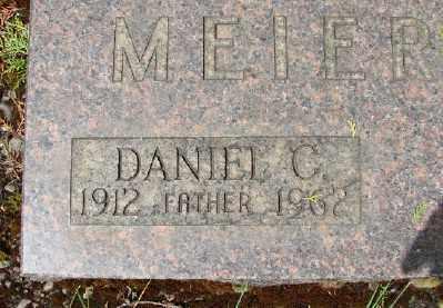 MEIER, DANIEL C - Marion County, Oregon | DANIEL C MEIER - Oregon Gravestone Photos