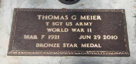 MEIER, THOMAS G - Marion County, Oregon   THOMAS G MEIER - Oregon Gravestone Photos