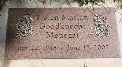 GOODKNECHT MENEGAT, HELEN MARIAN - Marion County, Oregon | HELEN MARIAN GOODKNECHT MENEGAT - Oregon Gravestone Photos