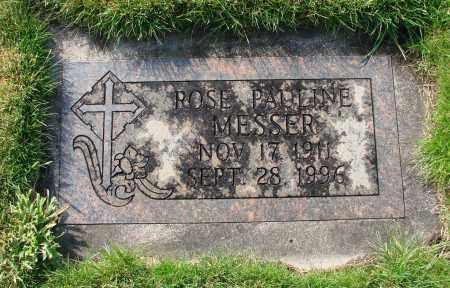 MESSER, ROSE PAULINE - Marion County, Oregon | ROSE PAULINE MESSER - Oregon Gravestone Photos