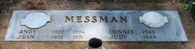 MESSMAN, ANDREW H - Marion County, Oregon | ANDREW H MESSMAN - Oregon Gravestone Photos