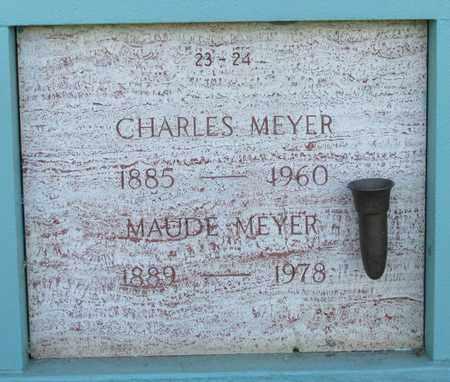 MEYER, MAUDE - Marion County, Oregon | MAUDE MEYER - Oregon Gravestone Photos