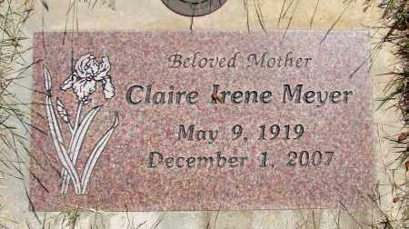MEYER, CLAIRE IRENE - Marion County, Oregon | CLAIRE IRENE MEYER - Oregon Gravestone Photos