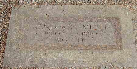 MEYER, JANN KAK - Marion County, Oregon | JANN KAK MEYER - Oregon Gravestone Photos