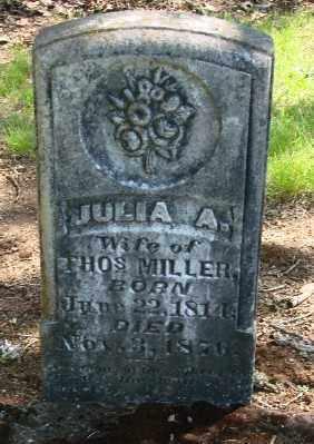 MILLER, JULIA A - Marion County, Oregon | JULIA A MILLER - Oregon Gravestone Photos