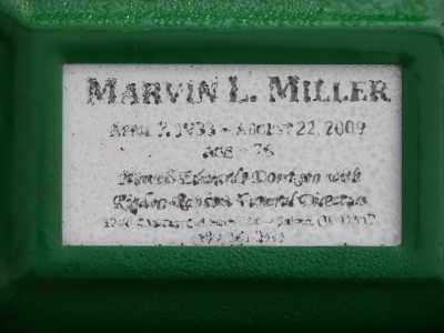 MILLER, MARVIN LYNN - Marion County, Oregon   MARVIN LYNN MILLER - Oregon Gravestone Photos