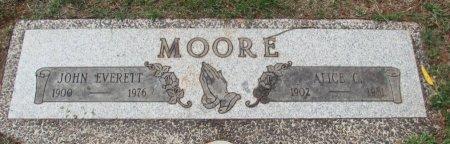 MOORE, JOHN EVERETT - Marion County, Oregon | JOHN EVERETT MOORE - Oregon Gravestone Photos
