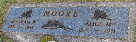 MOORE, BERTRAM M - Marion County, Oregon | BERTRAM M MOORE - Oregon Gravestone Photos