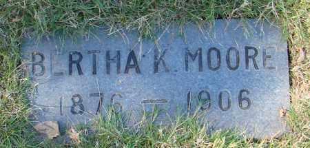 MOORE, BERTHA K - Marion County, Oregon | BERTHA K MOORE - Oregon Gravestone Photos