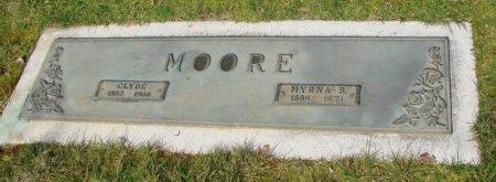 MOORE, CLYDE E - Marion County, Oregon | CLYDE E MOORE - Oregon Gravestone Photos