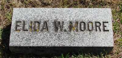 MOORE, ELIDA W - Marion County, Oregon | ELIDA W MOORE - Oregon Gravestone Photos