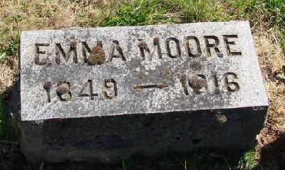 MOORE, EMMA - Marion County, Oregon | EMMA MOORE - Oregon Gravestone Photos
