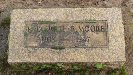 MOORE, ELIZABETH R - Marion County, Oregon   ELIZABETH R MOORE - Oregon Gravestone Photos