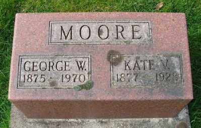 MOORE, GEORGE W - Marion County, Oregon | GEORGE W MOORE - Oregon Gravestone Photos