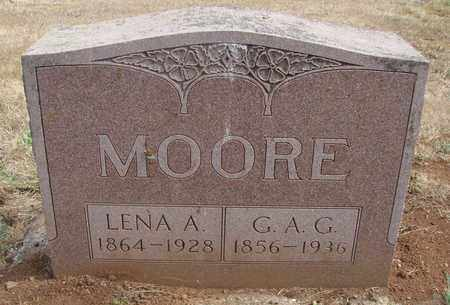 MOORE, LENA A - Marion County, Oregon | LENA A MOORE - Oregon Gravestone Photos