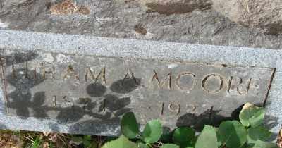 MOORE, HIRAM ALLEN - Marion County, Oregon   HIRAM ALLEN MOORE - Oregon Gravestone Photos