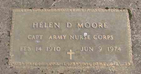 MOORE, HELEN D - Marion County, Oregon | HELEN D MOORE - Oregon Gravestone Photos