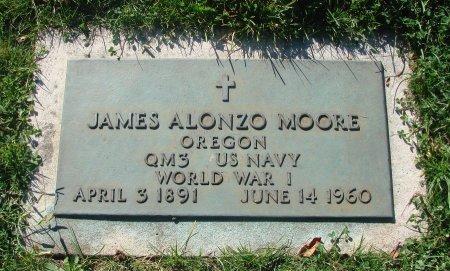 MOORE, JAMES ALONZO - Marion County, Oregon   JAMES ALONZO MOORE - Oregon Gravestone Photos