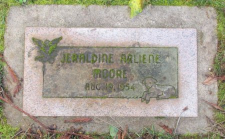 MOORE, JERALDINE ARLIENE - Marion County, Oregon | JERALDINE ARLIENE MOORE - Oregon Gravestone Photos