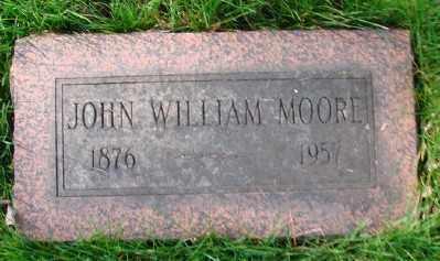 MOORE, JOHN WILLIAM - Marion County, Oregon | JOHN WILLIAM MOORE - Oregon Gravestone Photos