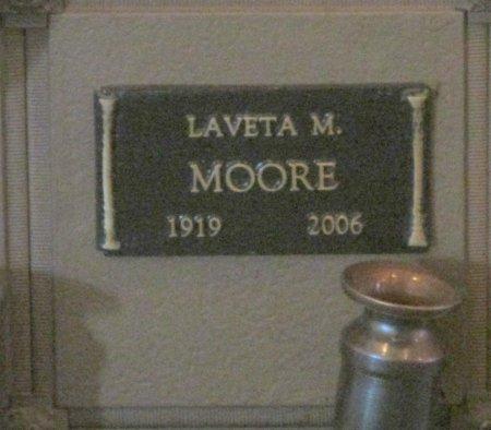 MOORE, LAVETA M - Marion County, Oregon   LAVETA M MOORE - Oregon Gravestone Photos