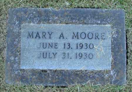 MOORE, MARY A - Marion County, Oregon | MARY A MOORE - Oregon Gravestone Photos