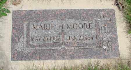 MOORE, MARIE H - Marion County, Oregon   MARIE H MOORE - Oregon Gravestone Photos