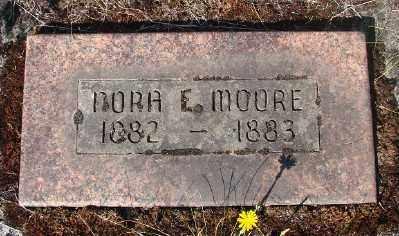 MOORE, NORA E - Marion County, Oregon   NORA E MOORE - Oregon Gravestone Photos
