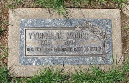 MOORE, YVONNE D - Marion County, Oregon | YVONNE D MOORE - Oregon Gravestone Photos