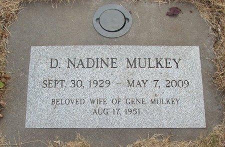 MULKEY, D NADINE - Marion County, Oregon | D NADINE MULKEY - Oregon Gravestone Photos