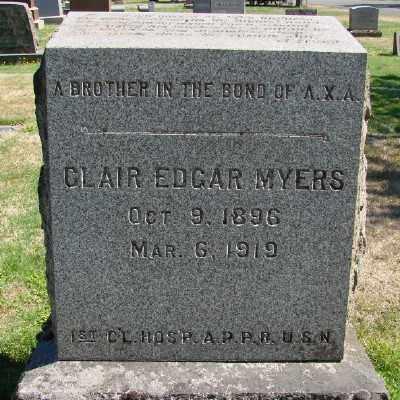 MYERS (SERV), CLAIR EDGAR - Marion County, Oregon | CLAIR EDGAR MYERS (SERV) - Oregon Gravestone Photos