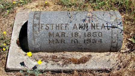NEAL, ESTHER ANN - Marion County, Oregon   ESTHER ANN NEAL - Oregon Gravestone Photos