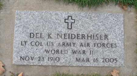 NEIDERHISER (WWII), DEL K - Marion County, Oregon | DEL K NEIDERHISER (WWII) - Oregon Gravestone Photos