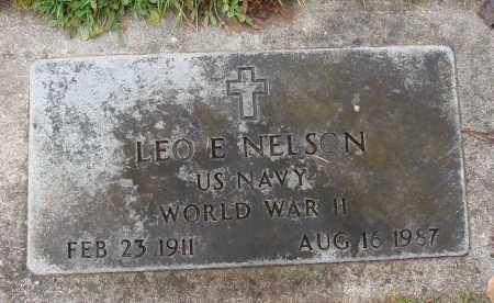 NELSON (WWII), LEO E - Marion County, Oregon | LEO E NELSON (WWII) - Oregon Gravestone Photos