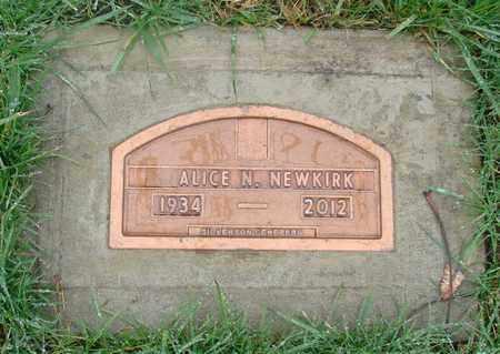 NEWKIRK, ALICE N - Marion County, Oregon   ALICE N NEWKIRK - Oregon Gravestone Photos