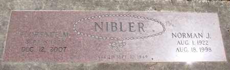 NIBLER, FLORENCE M - Marion County, Oregon | FLORENCE M NIBLER - Oregon Gravestone Photos