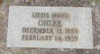 OHLER, LIZZIE MAUD - Marion County, Oregon   LIZZIE MAUD OHLER - Oregon Gravestone Photos