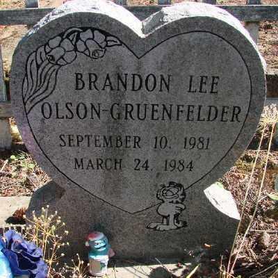 OLSON-GRUENFELDER, BRANDON LEE - Marion County, Oregon   BRANDON LEE OLSON-GRUENFELDER - Oregon Gravestone Photos