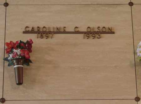 OLSON, CAROLINE CHRISTINA - Marion County, Oregon | CAROLINE CHRISTINA OLSON - Oregon Gravestone Photos