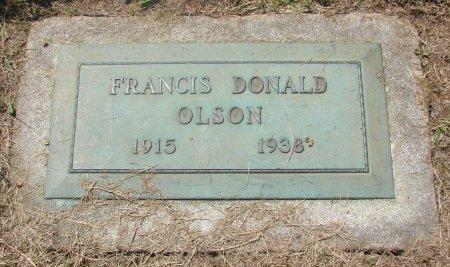 OLSON, FRANCIS DONALD - Marion County, Oregon | FRANCIS DONALD OLSON - Oregon Gravestone Photos