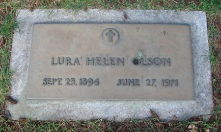 OLSON, LURA HELEN - Marion County, Oregon | LURA HELEN OLSON - Oregon Gravestone Photos