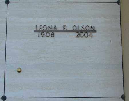 OLSON, LEONA F - Marion County, Oregon | LEONA F OLSON - Oregon Gravestone Photos