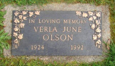 OLSON, VERLA JUNE - Marion County, Oregon | VERLA JUNE OLSON - Oregon Gravestone Photos