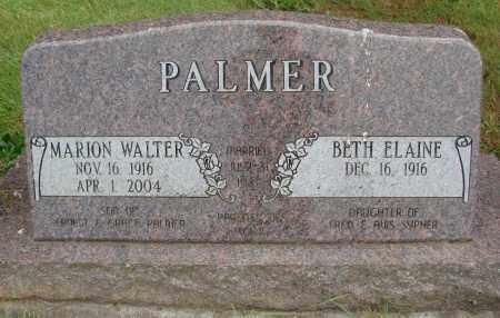 PALMER, MARION WALTER - Marion County, Oregon | MARION WALTER PALMER - Oregon Gravestone Photos